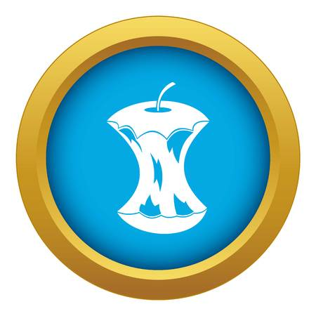 Apple core icon blue vector isolated Banque d'images - 118671209
