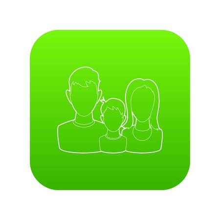 Life insurance icon green vector isolated on white background Foto de archivo - 124739079