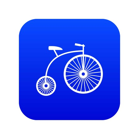 Penny-farthing icon digital blue for any design isolated on white vector illustration Illustration