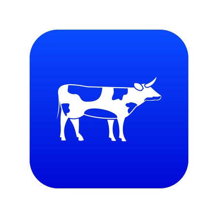 Switzerland cow icon digital blue for any design isolated on white vector illustration Illustration
