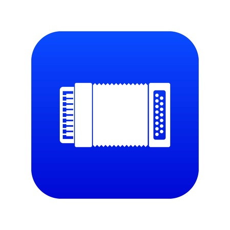 Accordion icon digital blue for any design isolated on white vector illustration