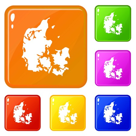 Holland icons set vector color