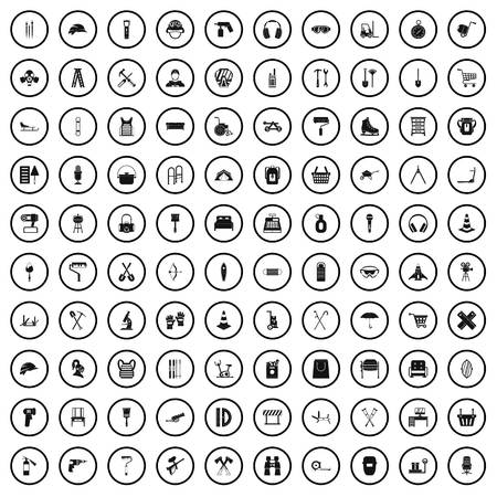 100 outfit icons set in simple style for any design vector illustration