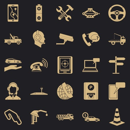 Employ icons set. Simple set of 25 employ vector icons for web for any design 일러스트