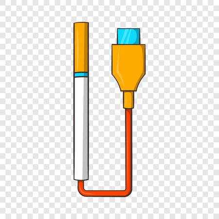 Electronic cigarette with USB cable icon