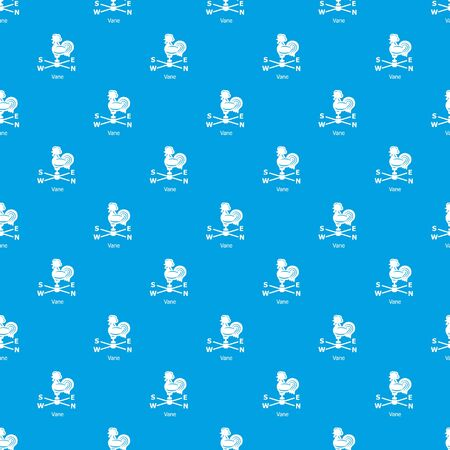 Vane pattern vector seamless blue