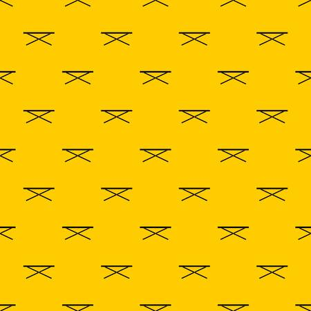 Market counter pattern seamless vector repeat geometric yellow for any design