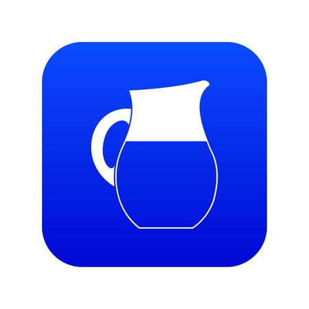 Pitcher of milk icon digital blue for any design isolated on white vector illustration