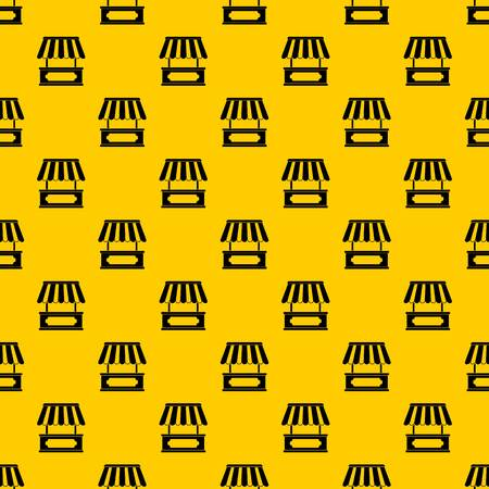 Street kiosk pattern seamless vector repeat geometric yellow for any design