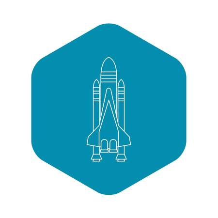 Shuttle icon. Outline illustration of shuttle vector icon for web  イラスト・ベクター素材