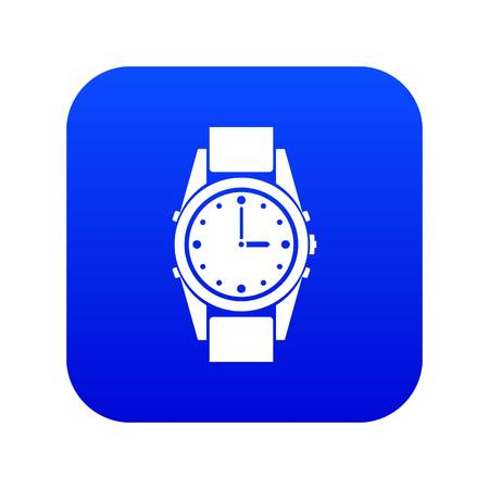 Swiss watch icon digital blue for any design isolated on white vector illustration