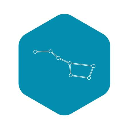 Big dipper constellation icon. Outline illustration of big dipper constellation vector icon for web  イラスト・ベクター素材
