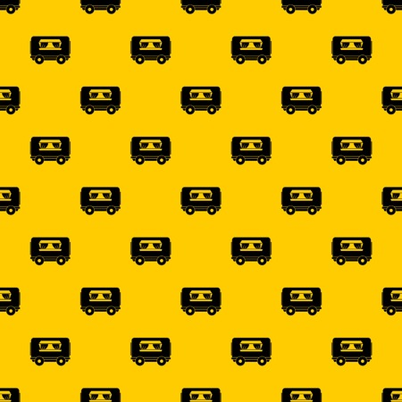 Food trailer pattern seamless vector repeat geometric yellow for any design