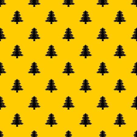 Fir tree pattern seamless vector repeat geometric yellow for any design