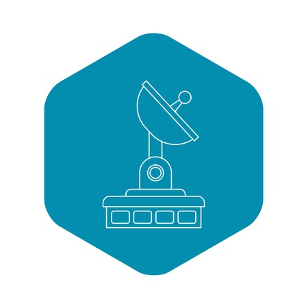 Satellite communication station icon. Outline illustration of satellite communication station vector icon for web Imagens - 124739211