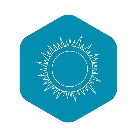 Sun icon. Outline illustration of sun vector icon for web