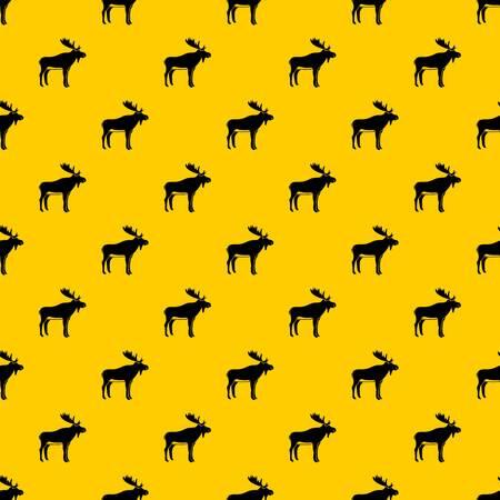 Deer pattern vector Illustration