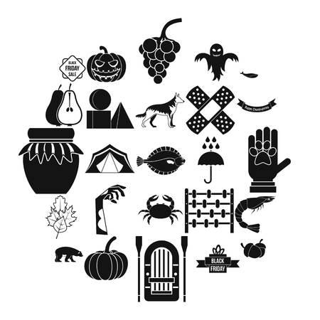 Ensemble d'icônes de chute de feuilles. Ensemble simple de 25 icônes vectorielles de chute de feuilles pour le web isolé sur fond blanc Vecteurs