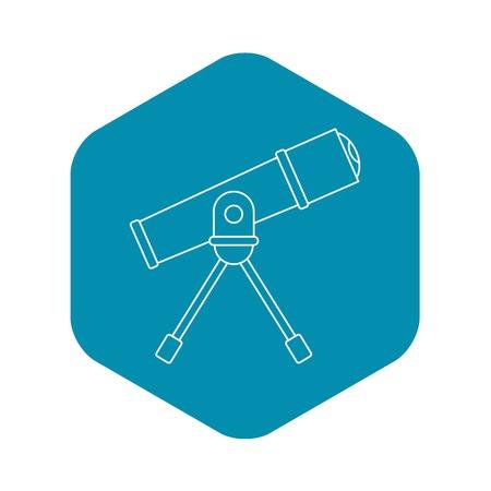 Telescope icon. Outline illustration of telescope vector icon for web