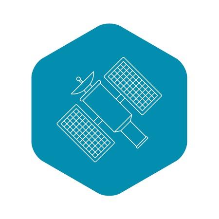 Satellite icon, outline style