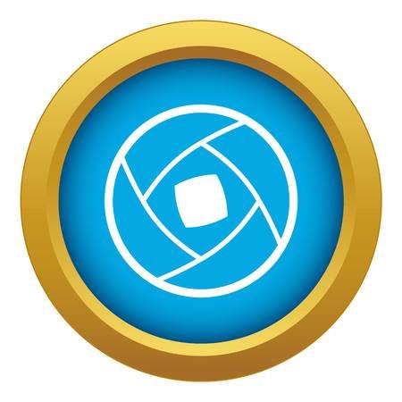 Semi-closed lens icon blue vector isolated Иллюстрация