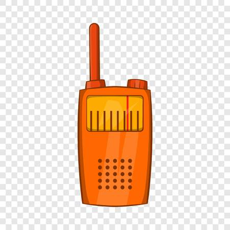 Orange portable handheld radio icon