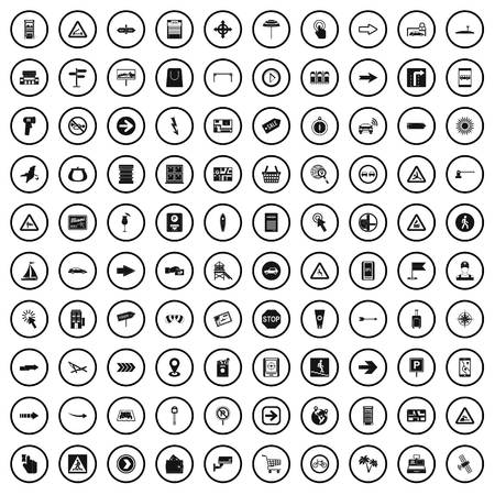 100 pointers icons set in simple style for any design vector illustration
