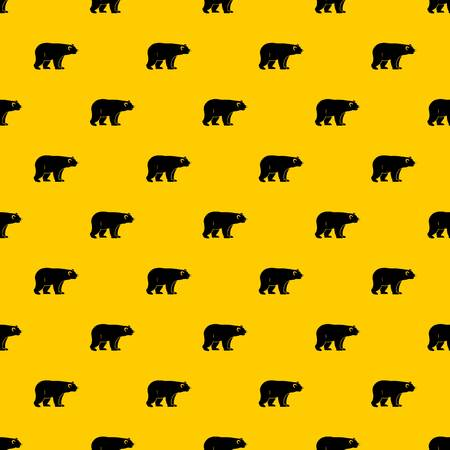 Wild bear pattern seamless vector repeat geometric yellow for any design
