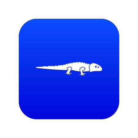 Iguana icon digital blue for any design isolated on white vector illustration  イラスト・ベクター素材
