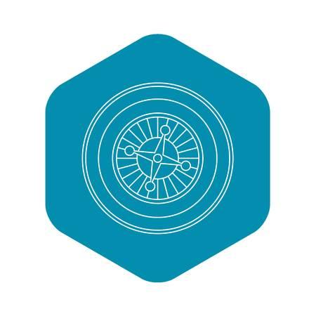Casino roulette icon. Outline illustration of casino roulette vector icon for web