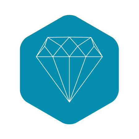 Diamond icon. Outline illustration of diamond vector icon for web Ilustrace