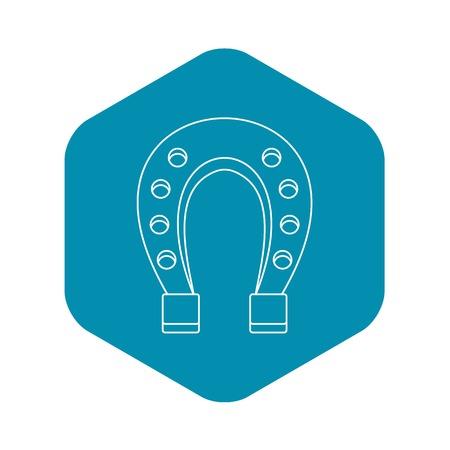 Horseshoe icon. Outline illustration of horseshoe vector icon for web