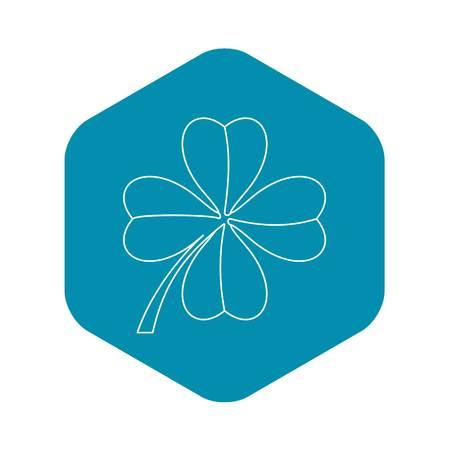 Clover leaf icon. Outline illustration of clover leaf vector icon for web