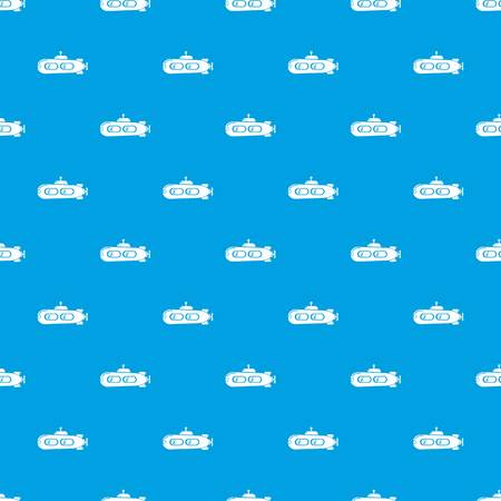 Submarine retro pattern vector seamless blue repeat for any use