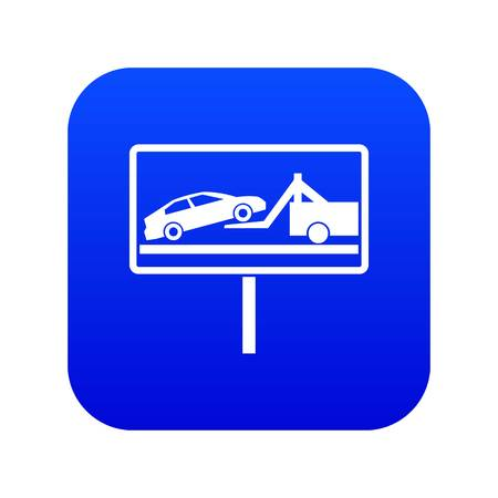 No parking sign icon digital blue for any design isolated on white vector illustration