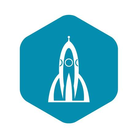 Rocket icon in simple style for any design