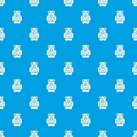 Backpack pattern vector seamless blue repeat for any use Ilustração