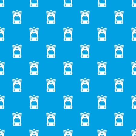 Haversack pattern vector seamless blue repeat for any use