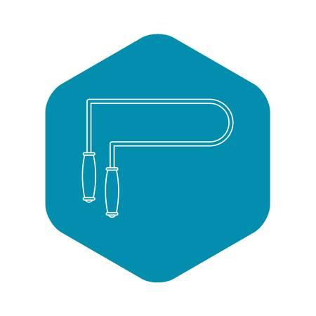 Skipping rope icon. Outline illustration of skipping rope vector icon for web