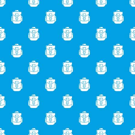 Backpacking pattern vector seamless blue repeat for any use