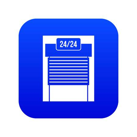 24 hours parking icon digital blue for any design isolated on white vector illustration