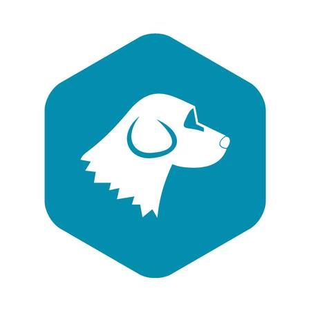 Beagle dog icon in simple style isolated on white background. Animals symbol Illustration