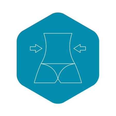 Slim body icon, outline style Stock Vector - 124920395