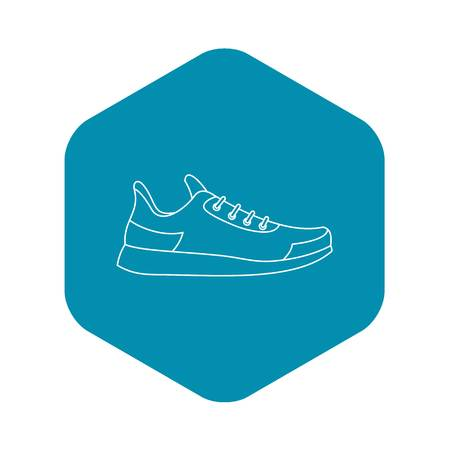 Athletic shoe icon. Outline illustration of athletic shoe vector icon for web Illustration