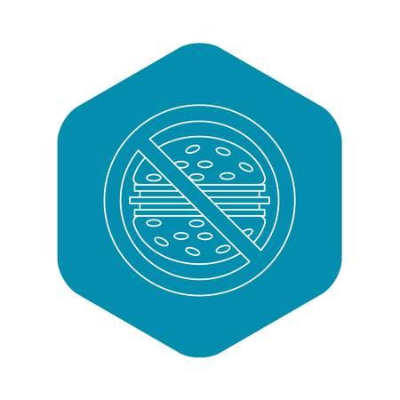 Fast food danger icon. Outline illustration of fast food danger vector icon for web