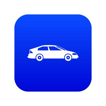 Car icon digital blue for any design isolated on white vector illustration