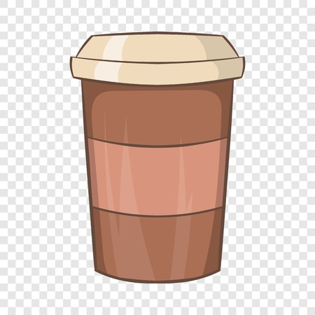 Paper cup of coffee icon, cartoon style Vectores