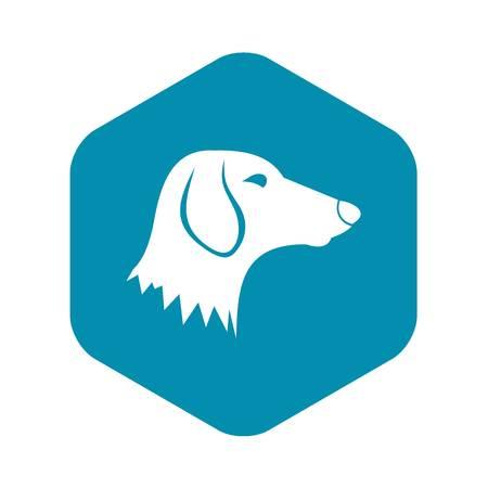 Dachshund dog icon in simple style isolated on white background. Animals symbol Çizim