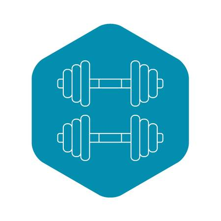 Dumbbell weights icon. Outline illustration of dumbbell weights vector icon for web