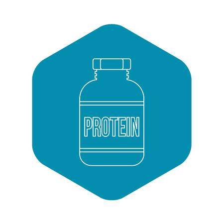 Sports nutrition bottle icon. Outline illustration of sports nutrition vector icon for web Illustration